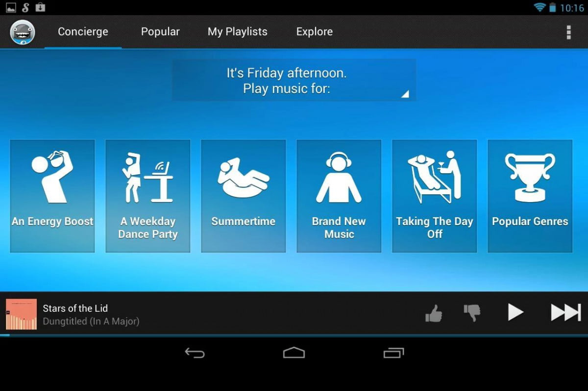 songza and weather channel collab for synced tunes app