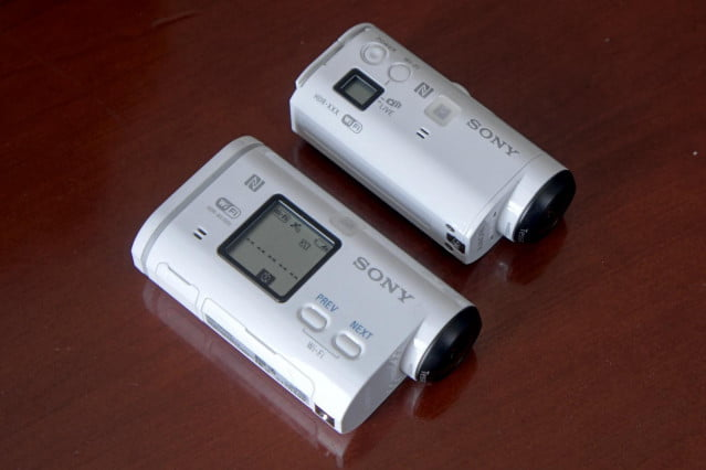 Comparing a Sony Action Cam with the newer, smaller Action Cam Mini.