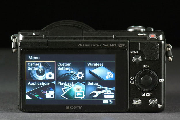 Sony Alpha A5000 back screen