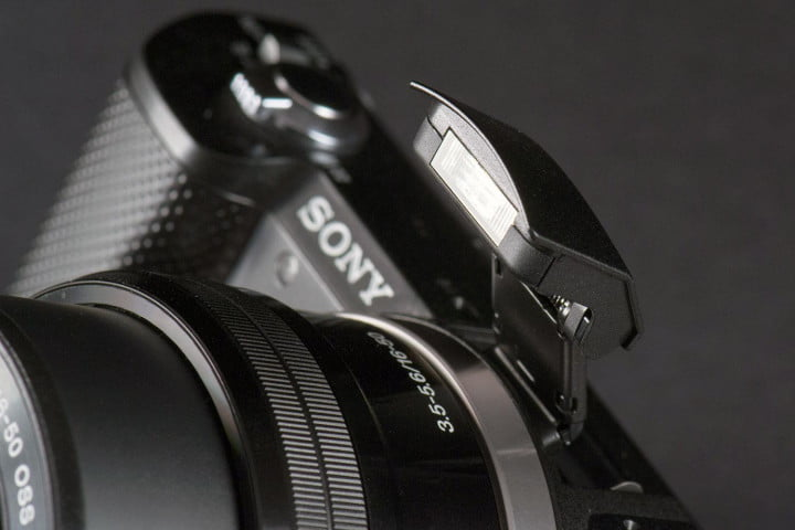 sony alpha a  review flash