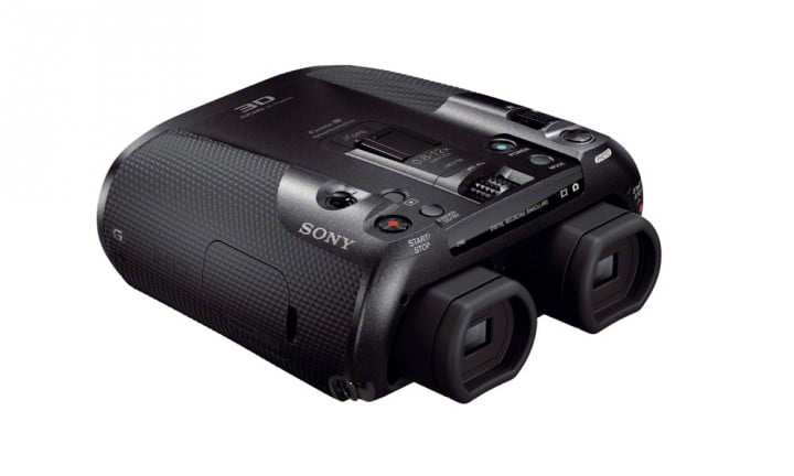sony unveils dev  digital recording binocular announces v