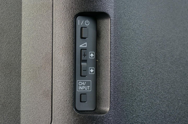 sony bravia kdl  r a review tv rear controls macro