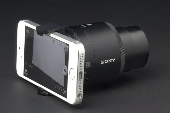 sony cyber shot qx  review back side angle
