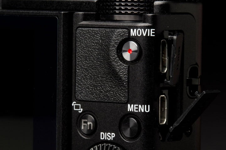sony cyber shot rx  ii review back ports