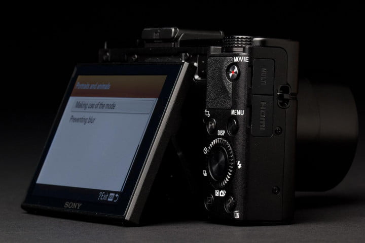 sony cyber shot rx  ii review screen back angle