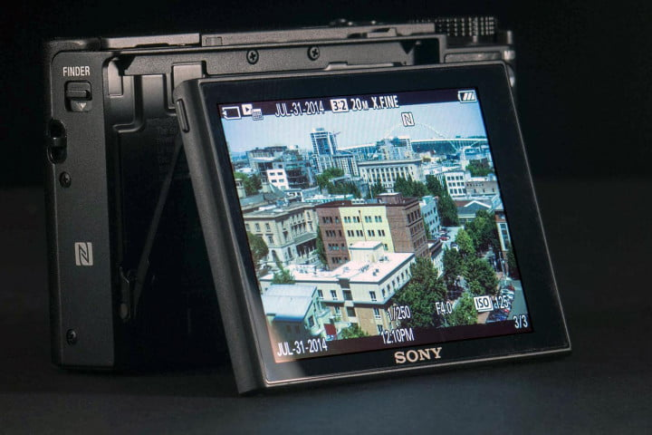 sony rx  iii review cybershot mark rear lcd angle