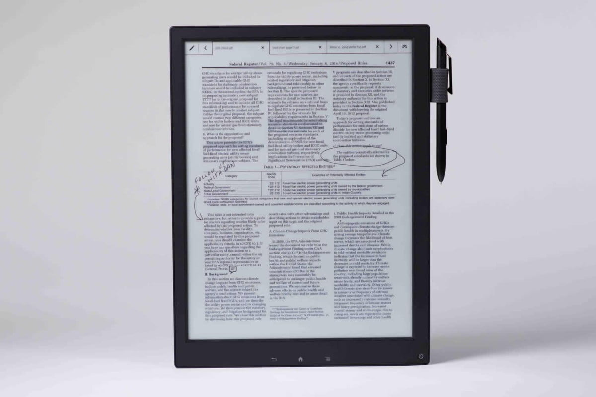sony announces digital paper flexible e ink screen u s