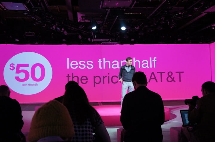t mobile unleashed event ceo john legeres new plan mike sievert