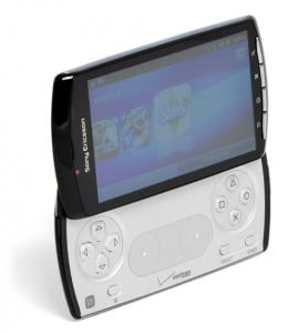 Sony Ericsson Xperia Play screen angle open