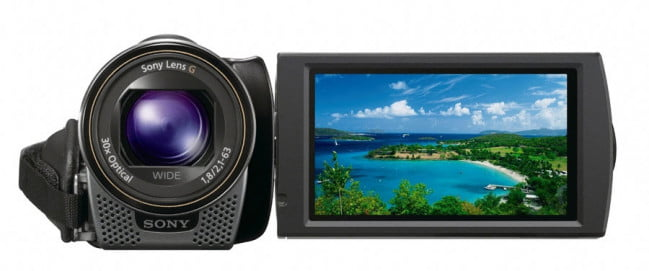 Sony HDR-CX130 lcd display black