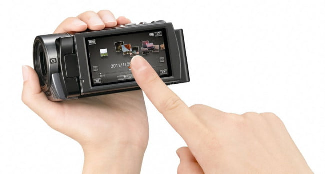 Sony HDR-CX130 touchscreen
