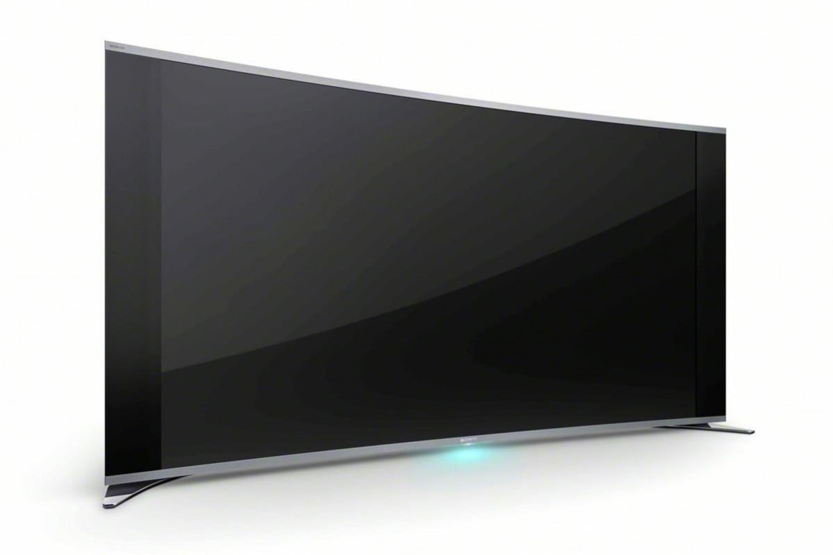 sony debuts  inch curved led tv kdl s a angle