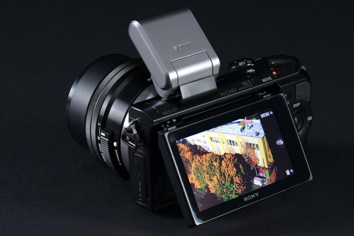 sony alpha nex  t review rear lcd