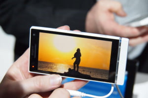 Sony NXT series at MWC - Xperia P WhiteMagic