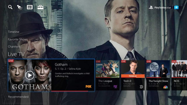 sony playstation vue tv service rollout