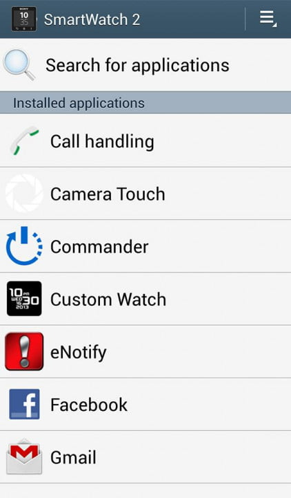 sony smartwatch  review screenshot app search