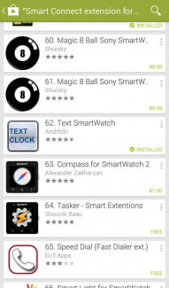 Sony SmartWatch 2 Screenshot smart connect 2
