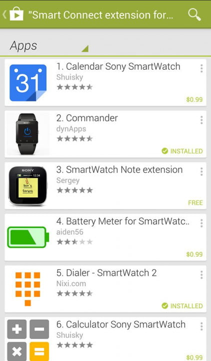 sony smartwatch  review screenshot smart connect