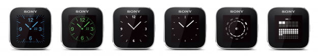 sony smartwatch interfaces