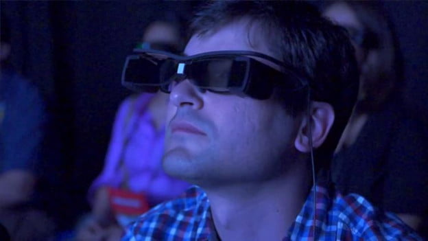 Sony subtitle glasses Adding closed captioning to any movie theater experience
