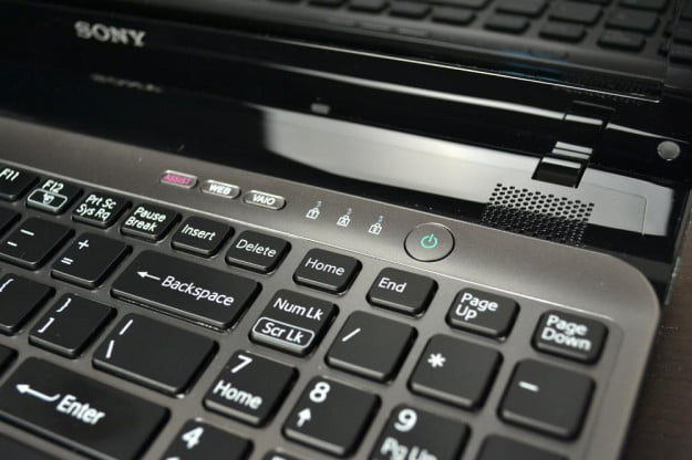 Sony Vaio E Series Review laptop power button windows notebook