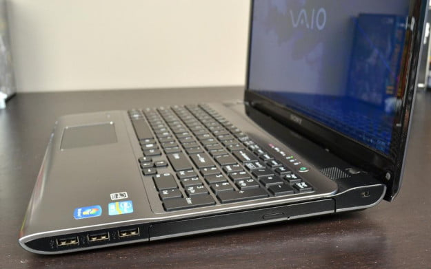 Sony Vaio E Series Review laptop right ports windows media laptop