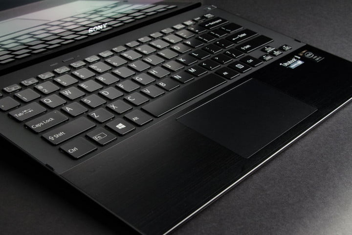 sony vaio pro  review keyboard angle