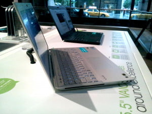 Sony VAIO Series S laptop side view
