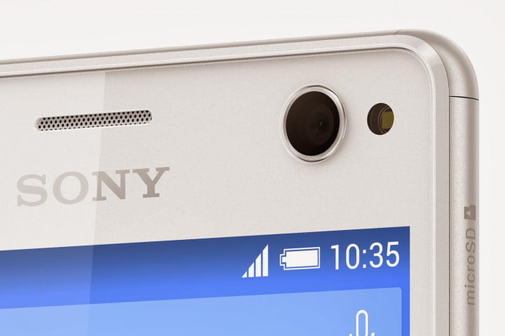 sony xperia c  news front lens