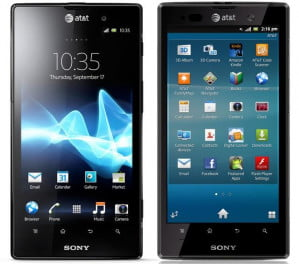 Sony Xperia Ion homescreen and apps menu