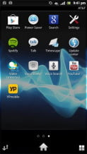 Sony Xperia Ion review screenshot app grid android 2.1 smartphone