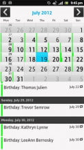 Sony Xperia Ion review screenshot calendar android 2.1 phone