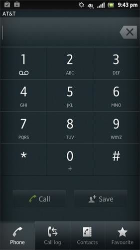 Sony Xperia Ion review screenshot dialer android 2.1 smartphone