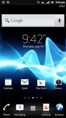 Sony Xperia Ion review screenshot home android 2.1 smartphone
