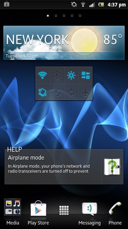 Sony Xperia P review screenshot android widgets android 4.0 smartphone