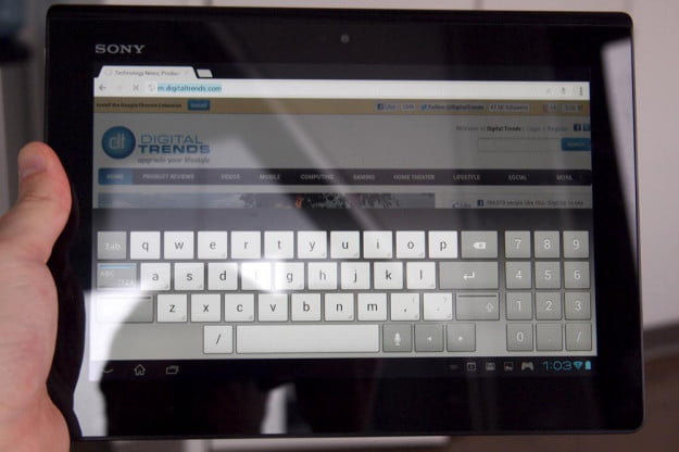 Sony Xperia Tablet S review keyboard
