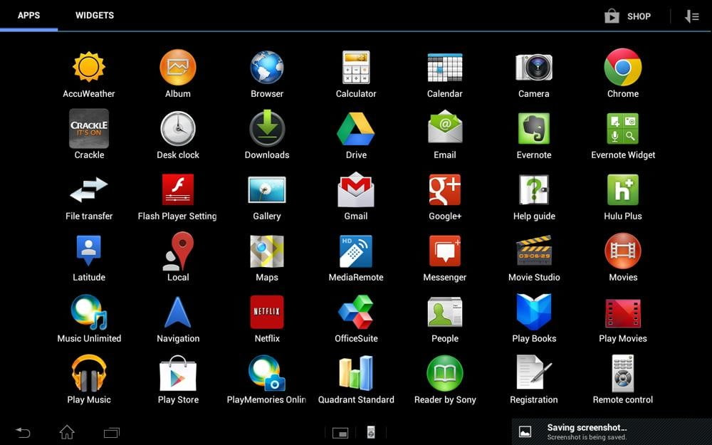 Sony Xperia Tablet S review screenshot app grid android tablet