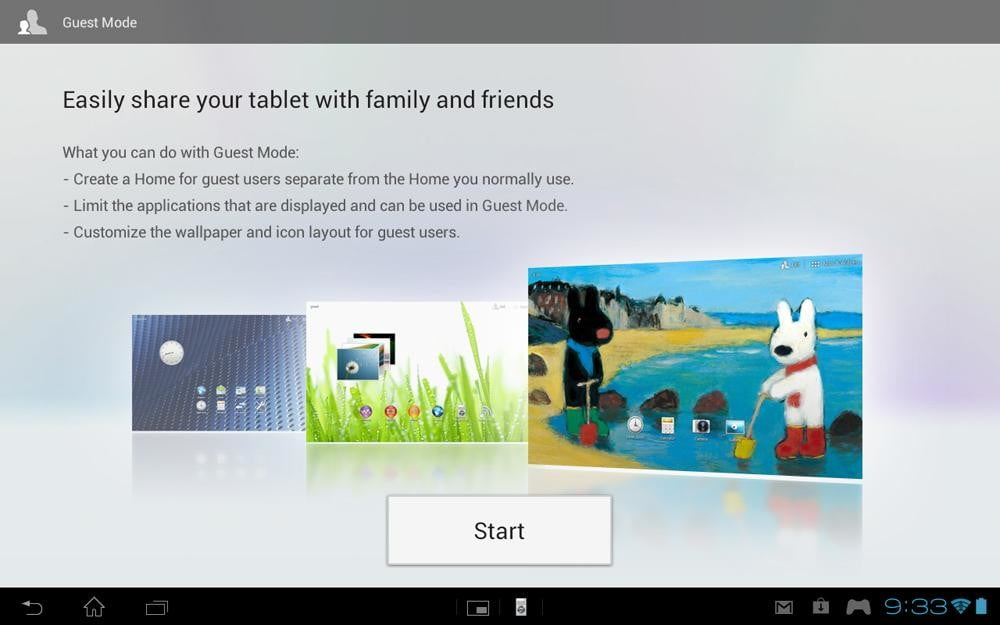 Sony Xperia Tablet S review screenshot guest mode info android tablet