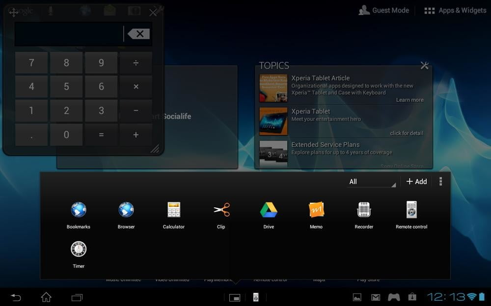 Sony Xperia Tablet S review screenshot widgets android tablet