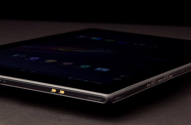 Sony Xperia Tablet Z review front angle