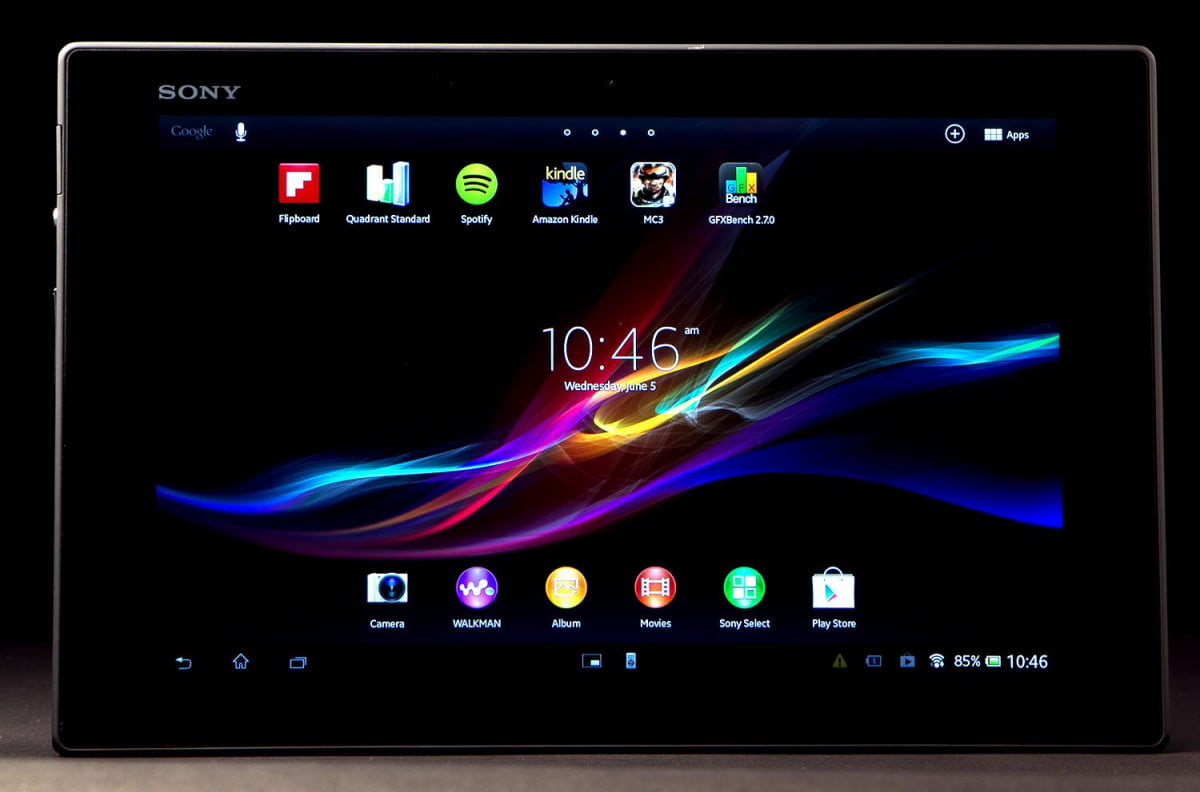 sony xperia tablet z helpful tips tricks review front screen on