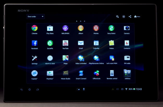 Sony-Xperia-Tablet-Z-review-front-screen-on-2