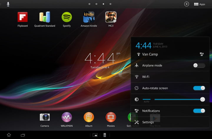 sony xperia tablet z review sample screenshot home screen widgets