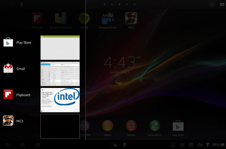 sony xperia tablet z review sample screenshot menu
