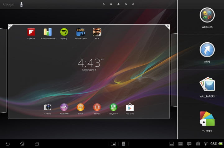 sony xperia tablet z review sample screenshot multitasking