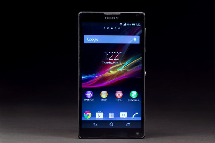 sony xperia zl review xl front screen on