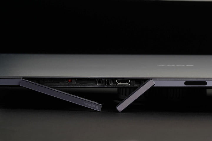 sony xperia z  tablet review ports open