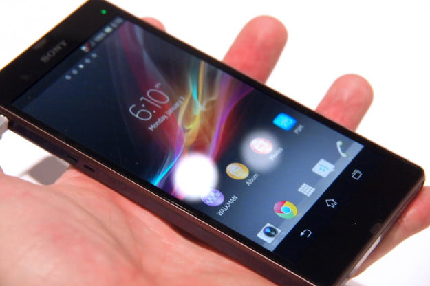sony xperia z android spashproof smartphone
