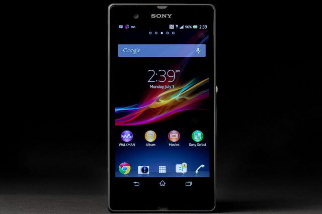 Sony Xperia Z review front home