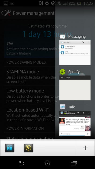sony xperia z review screenshot apps